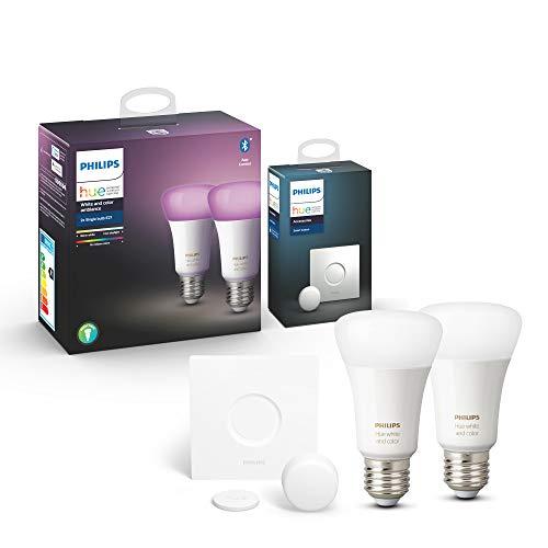 2x Philips Hue White & Colour Ambiance E27 + Smart Button [Amazon Prime] - 69,99€
