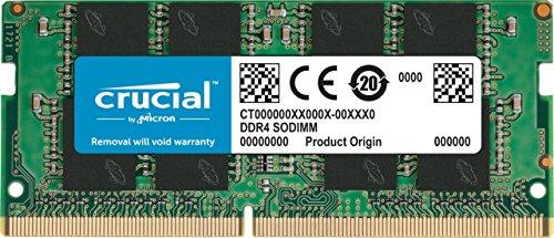 RAM Crucial 16GB (DDR4, 2400 MT/s, PC4-19200, Dual Rank x8, SODIMM, 260-Pin) Amazon.es
