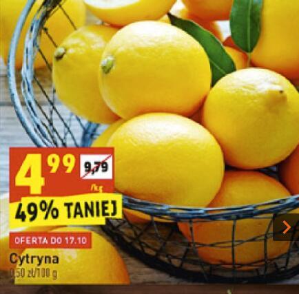 Cytryna 4,99 zł/kg. Biedronka