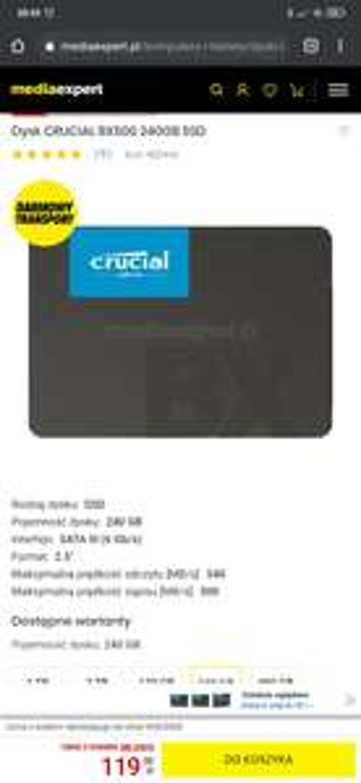 Dysk SSD BX500 240 GB