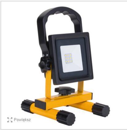 Euromate Naświetlacz akumulatorowy LED 10W 600lm 6500K