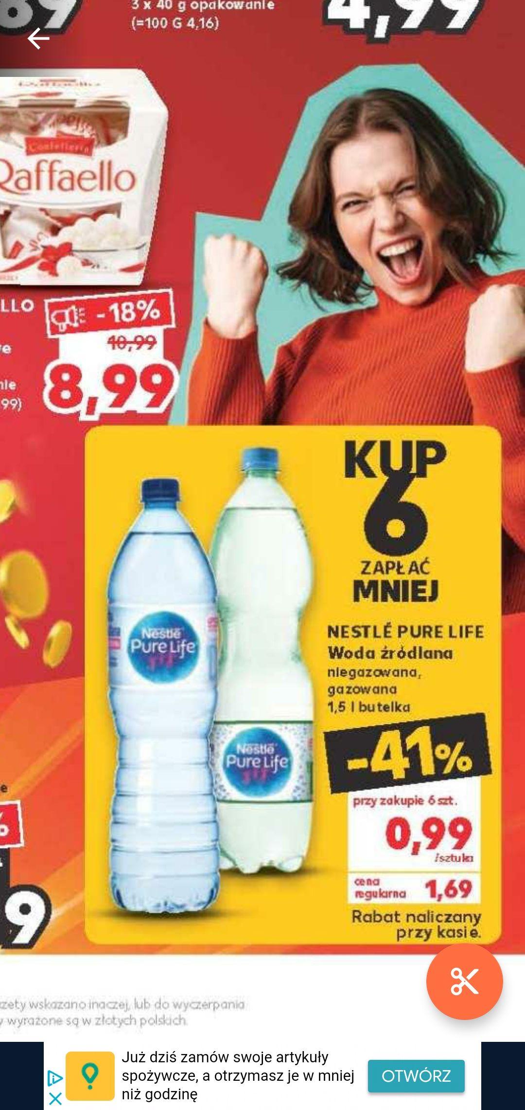 Woda źródlana NESTLE, cena przy zakupie 6sztuk KAUFLAND