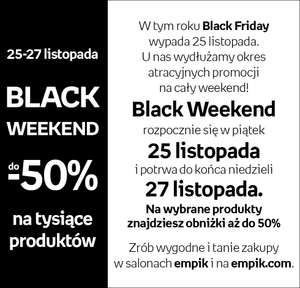 [BLACK FRIDAY] W EMPIKU