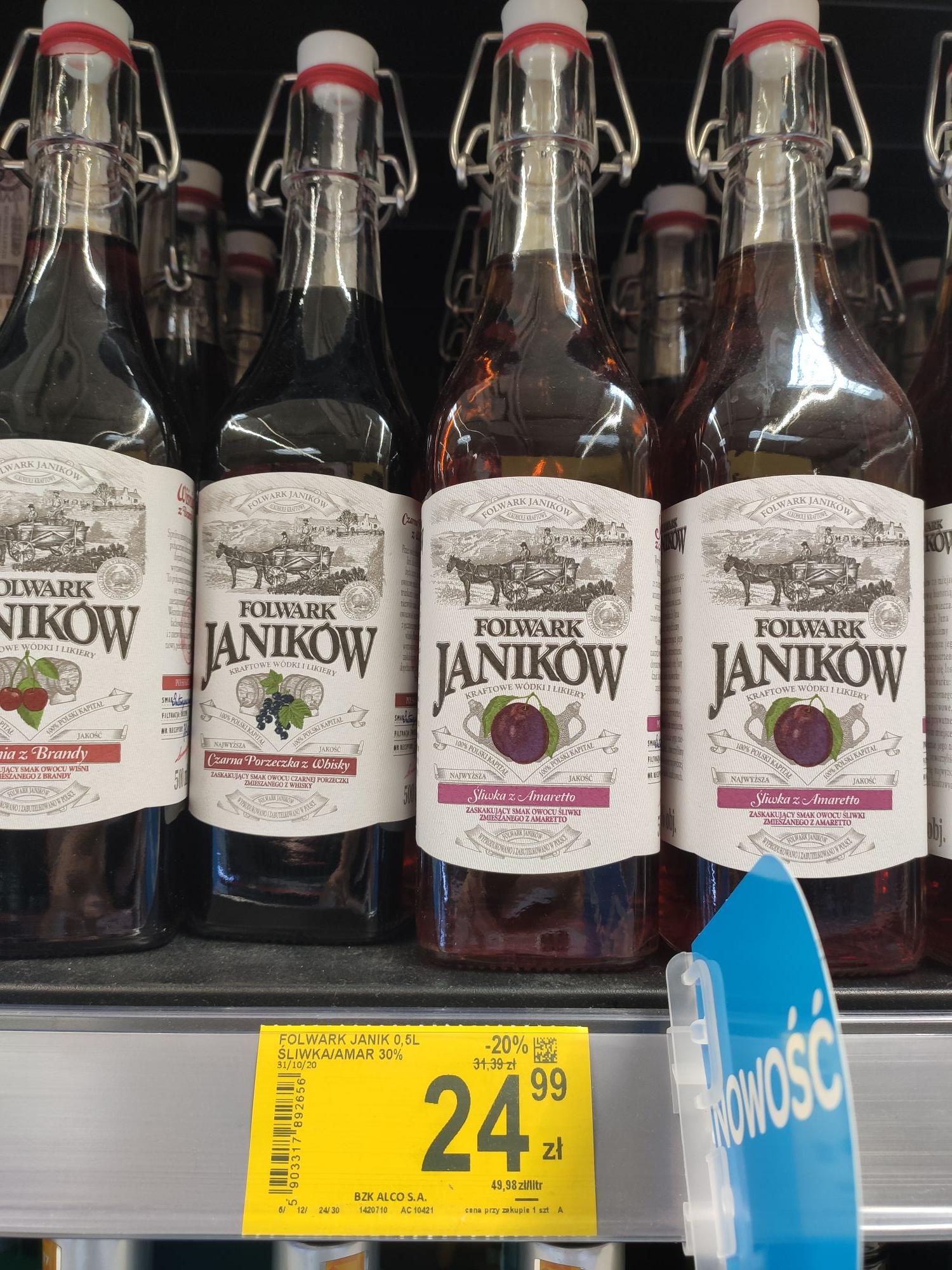 Likiery Folwark Janików, różne smaki @ Carrefour