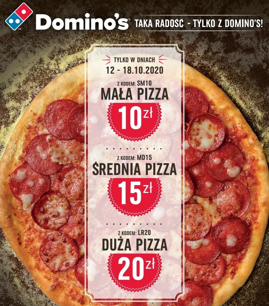 Dowolna duża pizza za 20pln,średnia za 15, mała 10!