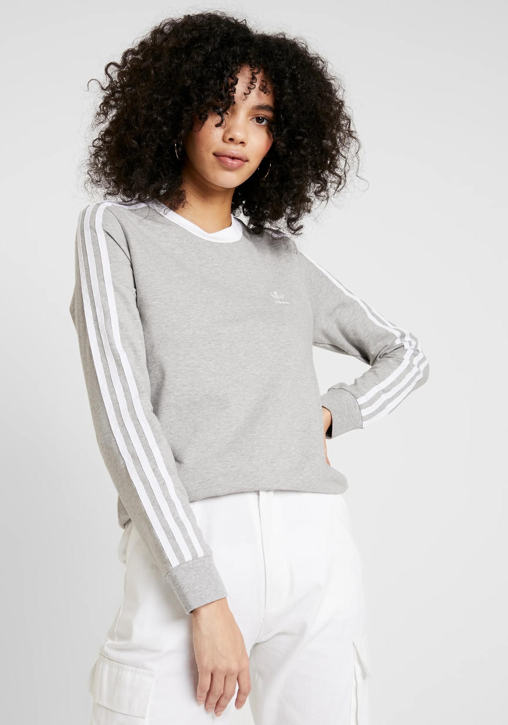 Damska szara bluzka Adidas Originals w @Zalando - r. 28 - 44