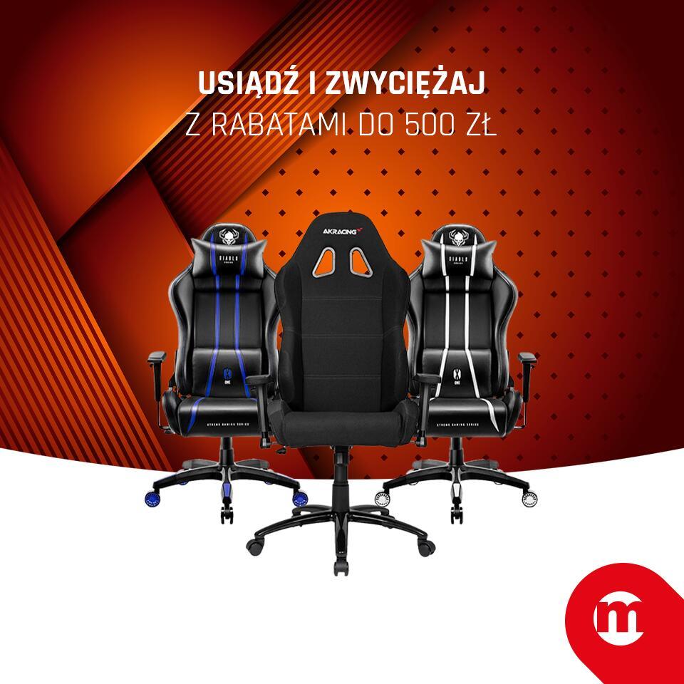 Wybrane fotele i biurka gamingowe taniej, z darmową dostawą @ Morele