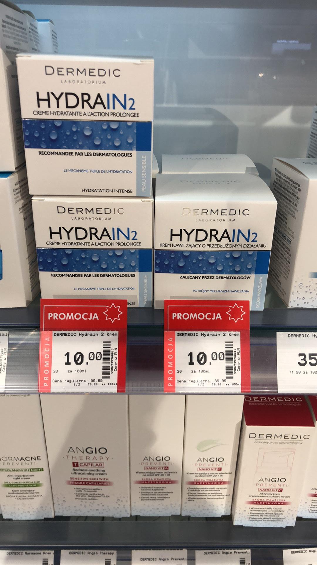 Krem nawilżający Dermedic HYDRAIN 2 za 10 zł w Superpharm