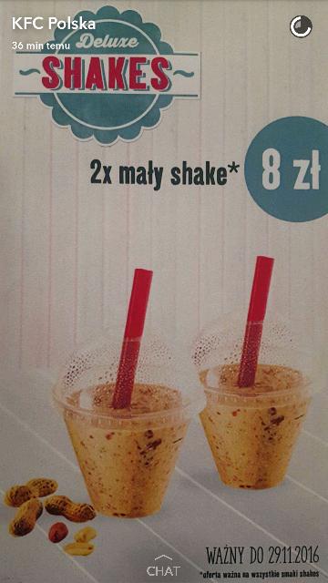 KUPON KFC: 2x mały Shake, dowolne smaki