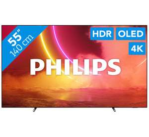 "Telewizor OLED 55"" PHILIPS 55OLED805, Android, Ambilight, 100Hz, 5700PPI, 3/16GB"