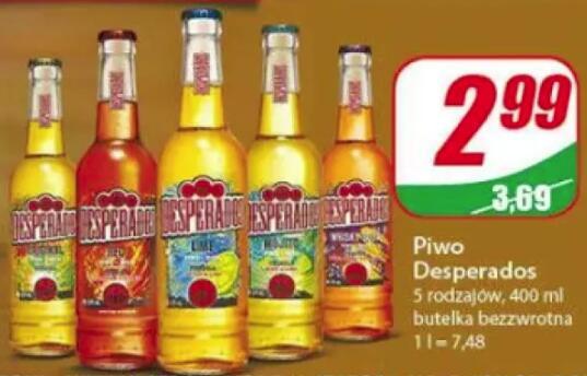 Piwo desperados 2.99zł Dino