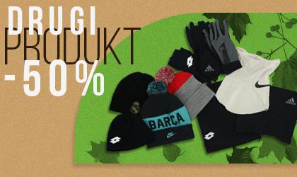 -50% na drugi tańszy produkt z kategorii: czapki, kominy, rękawiczki vitasport.pl
