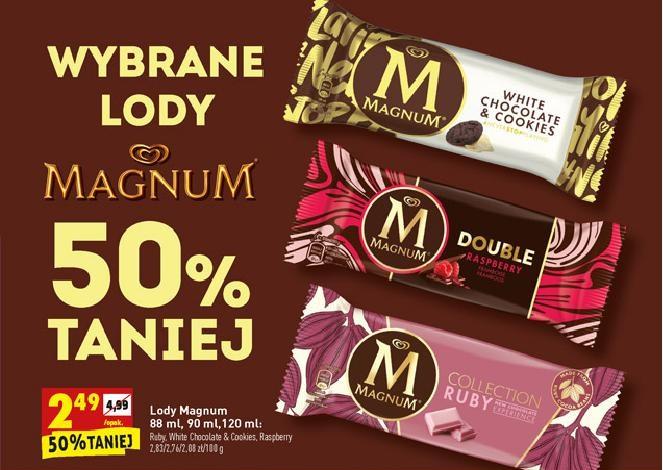Lody Magnum 50% taniej - Biedronka