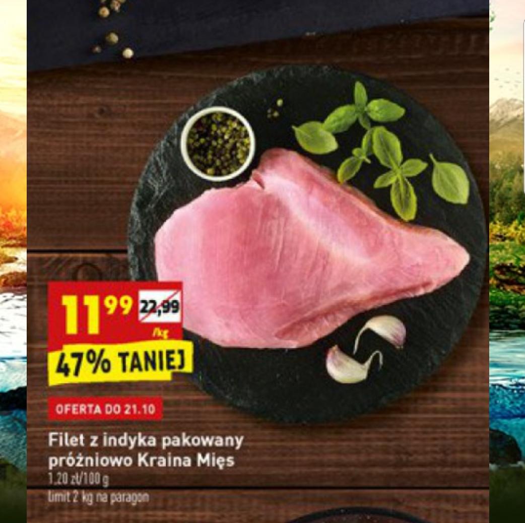 Filet z indyka pakowany próżniowo Kraina Mięs Biedronka 1 kg