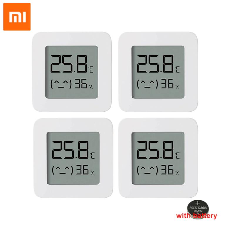 4 x termometr XIAOMI Mijia Bluetooth 2 bezprzewodowy inteligentny elektryczny termometr cyfrowy higrometr praca z aplikacją Mi Home