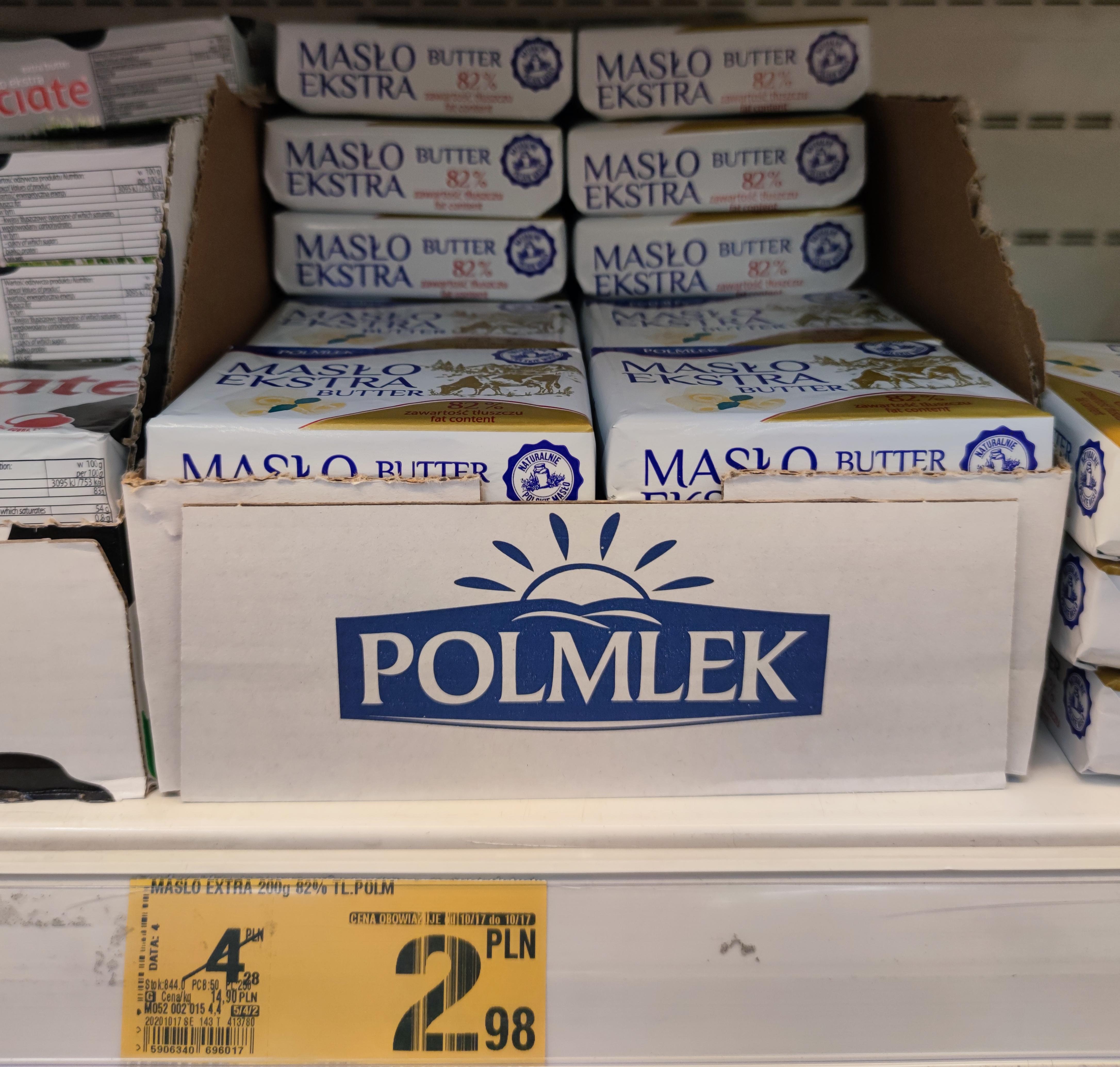 Masło Polmlek Auchan 2.98