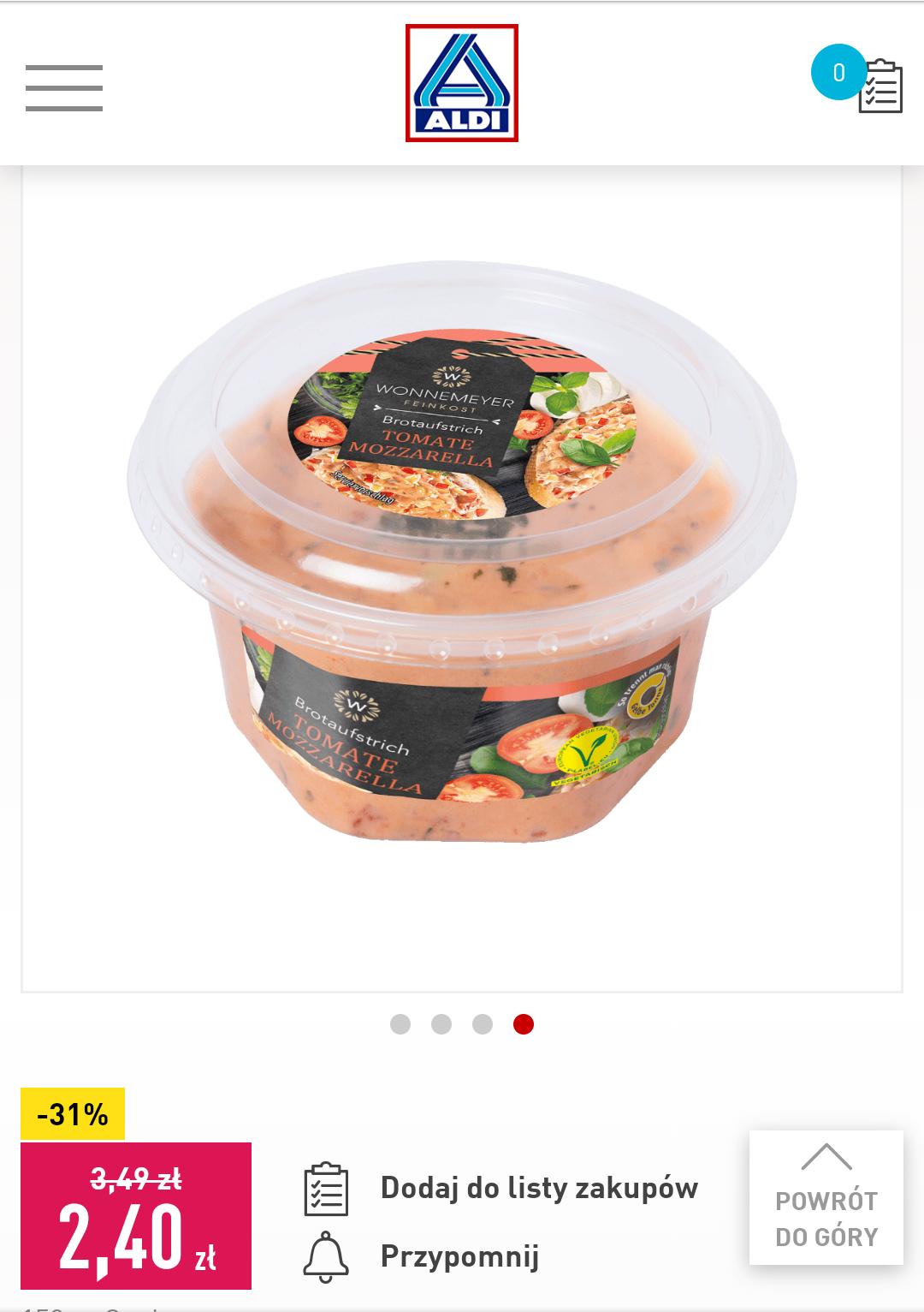 ALDI Pasta kanapkowa -31%
