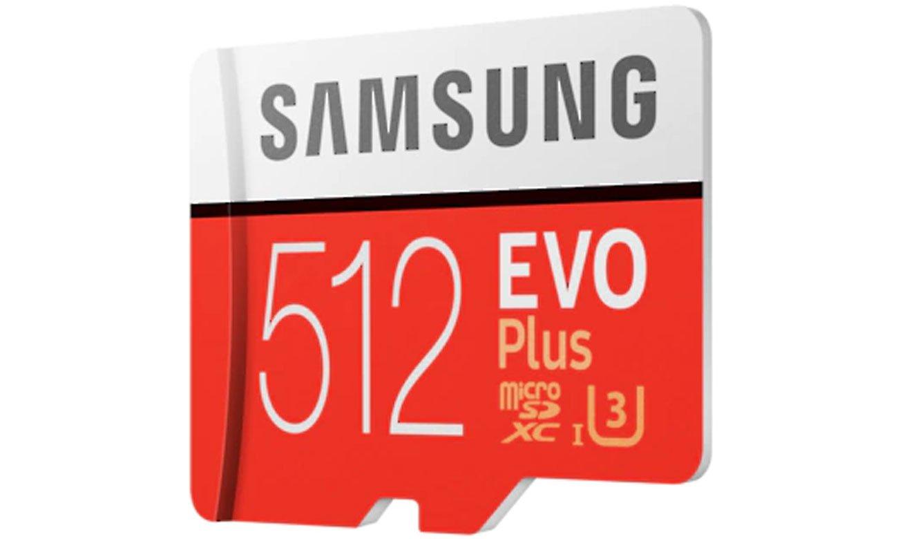 Karta pamięci Samsung 512GB microSDXC Evo Plus zapis90MB/s odczyt100MB/s