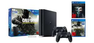 PS4 Slim 1TB + 2xDS4 + 3 GRY (Call of Duty: IW, Dishonored 2, Dishonored DE) @ Amazon.de