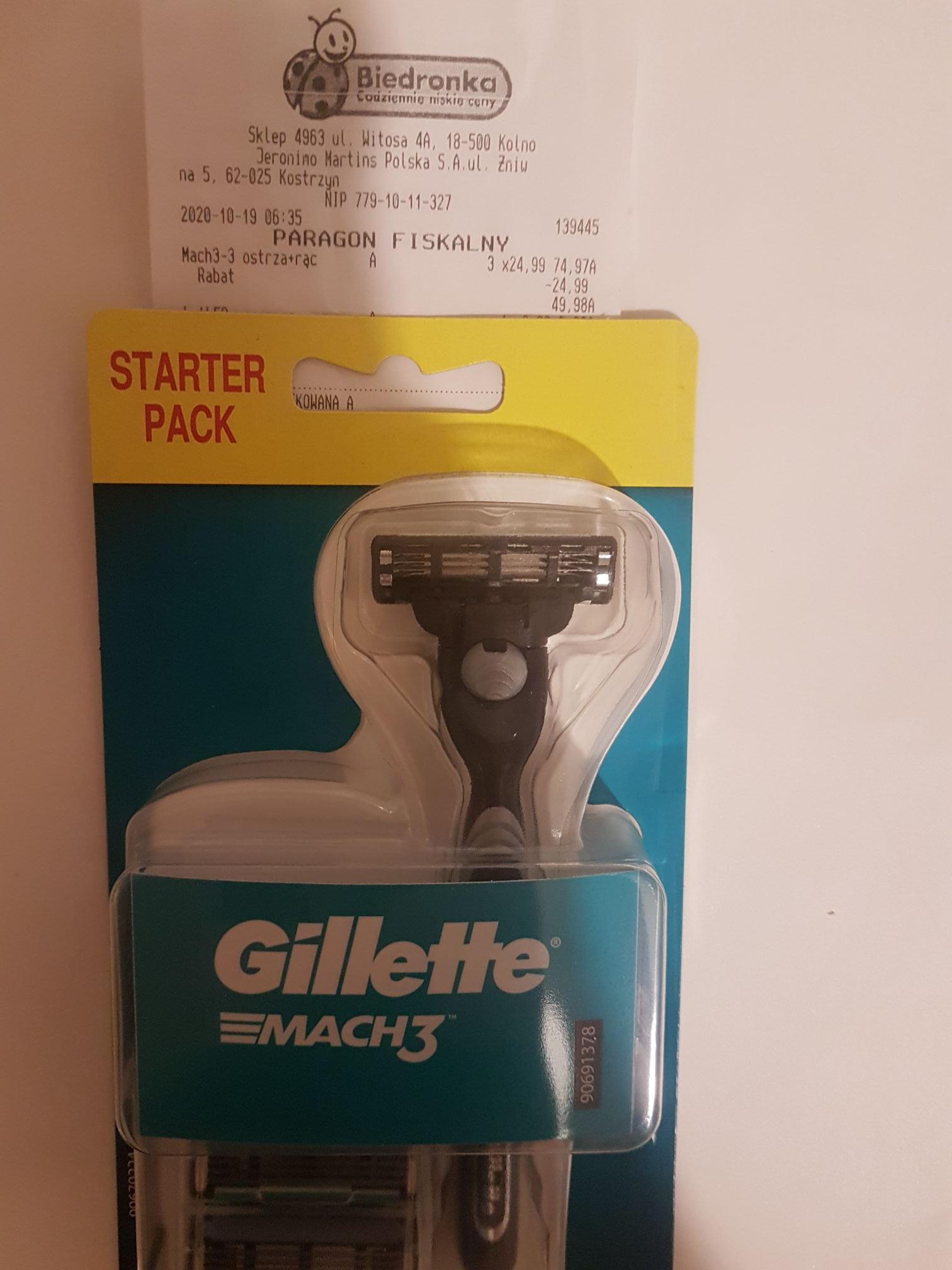 Gillette Mach 3 w świetnej cenie - 5,55 zł za nożyk