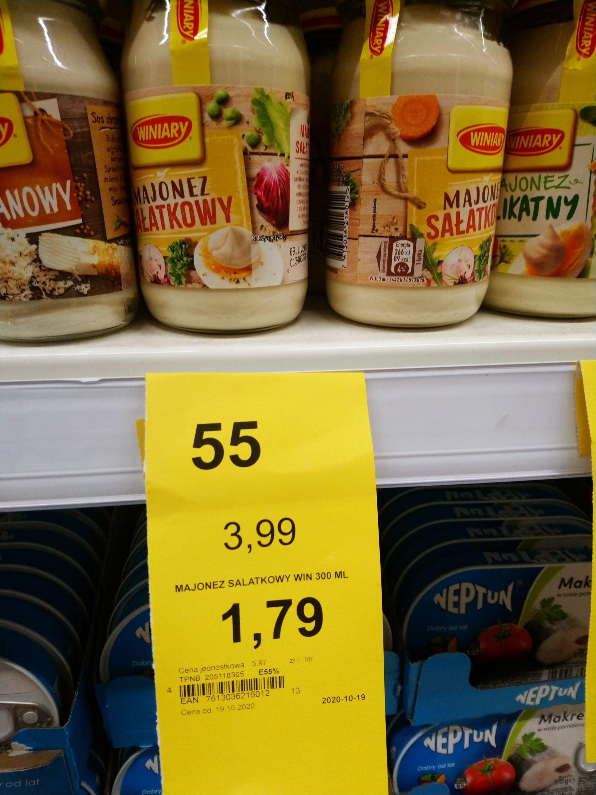 Tesco Świdnica , majonez sałatkowy Winiary.
