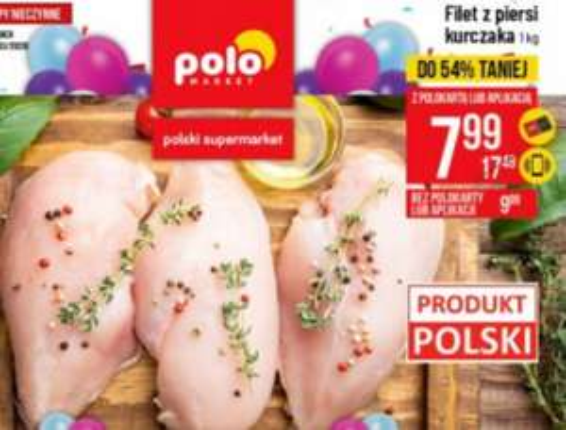Filet z piersi kurczaka 1kg. PoloMarket