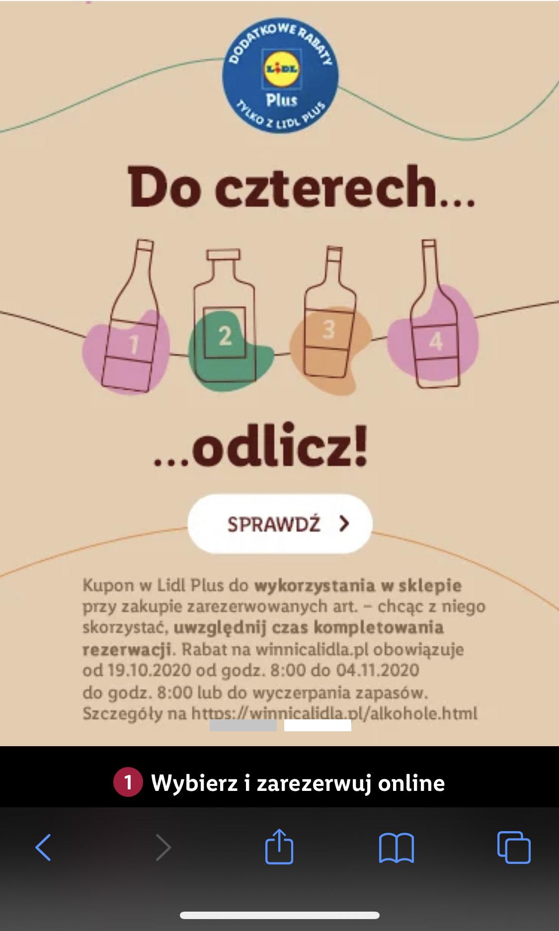 Winnica Lidla 10% możliwe -27% przy zakupie 4 butelek + kupon LidlPlus + newsletter
