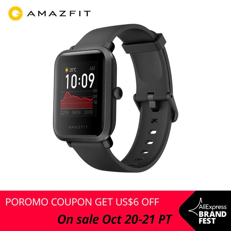 Smartwatch Amazfit Bip S z Hiszpanii (GPS, wodoszczelność 5ATM) @AliExpress