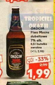 Okocim Piwo Mocne dubeltowe 7% alk. 0,5l @Kaufland