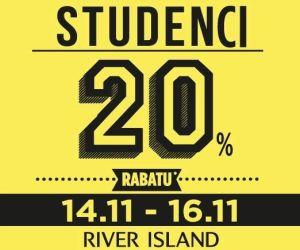 20% rabatu dla uczniów oraz studentów TYLKO W TEN WEEKEND @ River Island