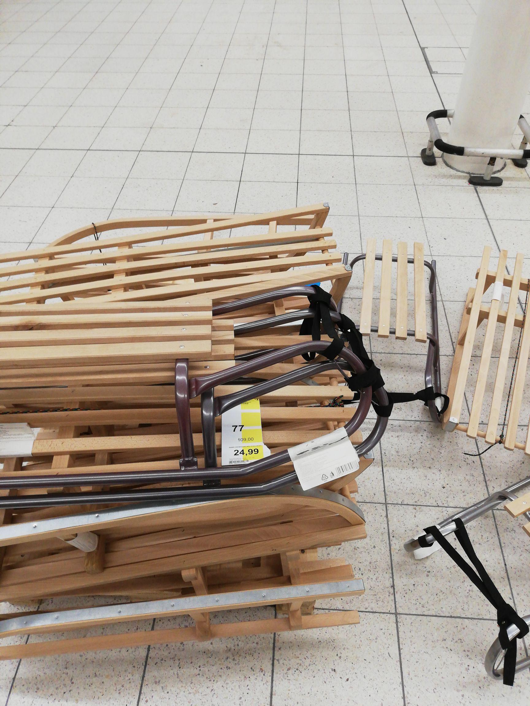 Tesco sanki drewniane 77% taniej