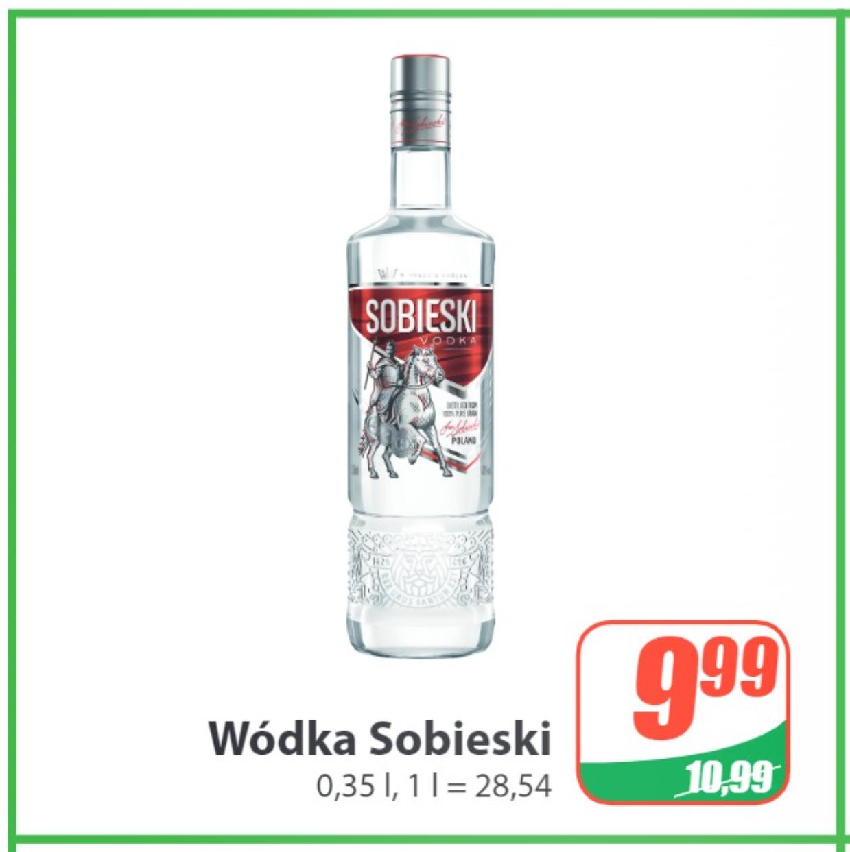 Wódka Sobieski 0,35l (możliwe 9,08zł) - DINO