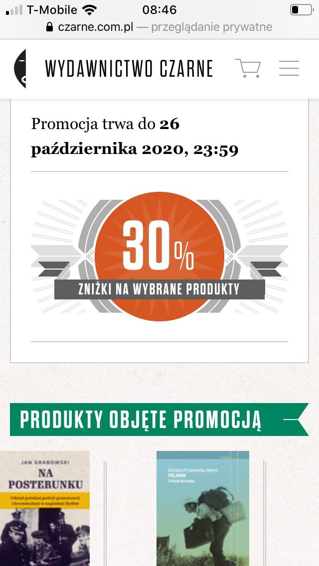 30% na wybrane książki Wydawnictwo Czarne