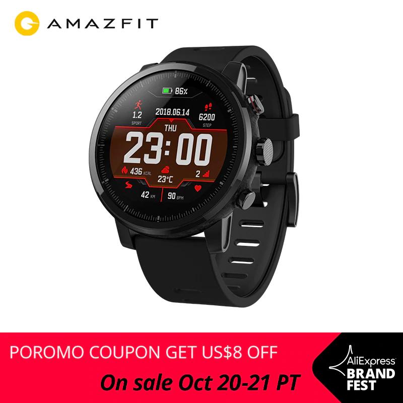 Smartwatch Amazfit 2 Stratos z Polski, 84 USD