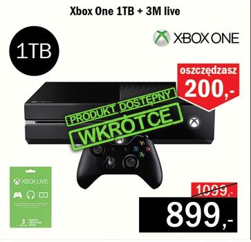 Xbox One 1TB + 3MSC XBOX LIVE