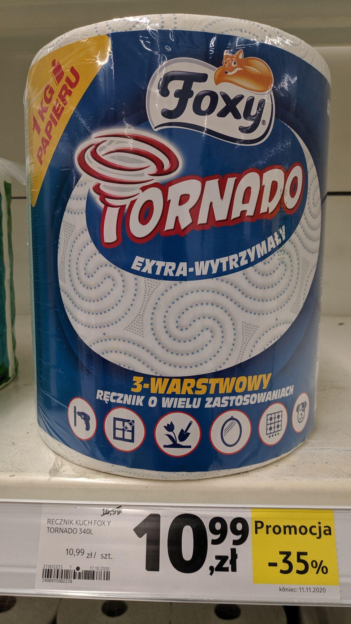 Ręcznik papierowy Foxy Tornado za 10,99 w Tesco