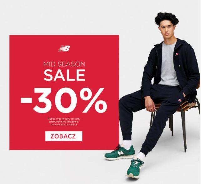 New Balance - rabat 30% na wybrane produkty