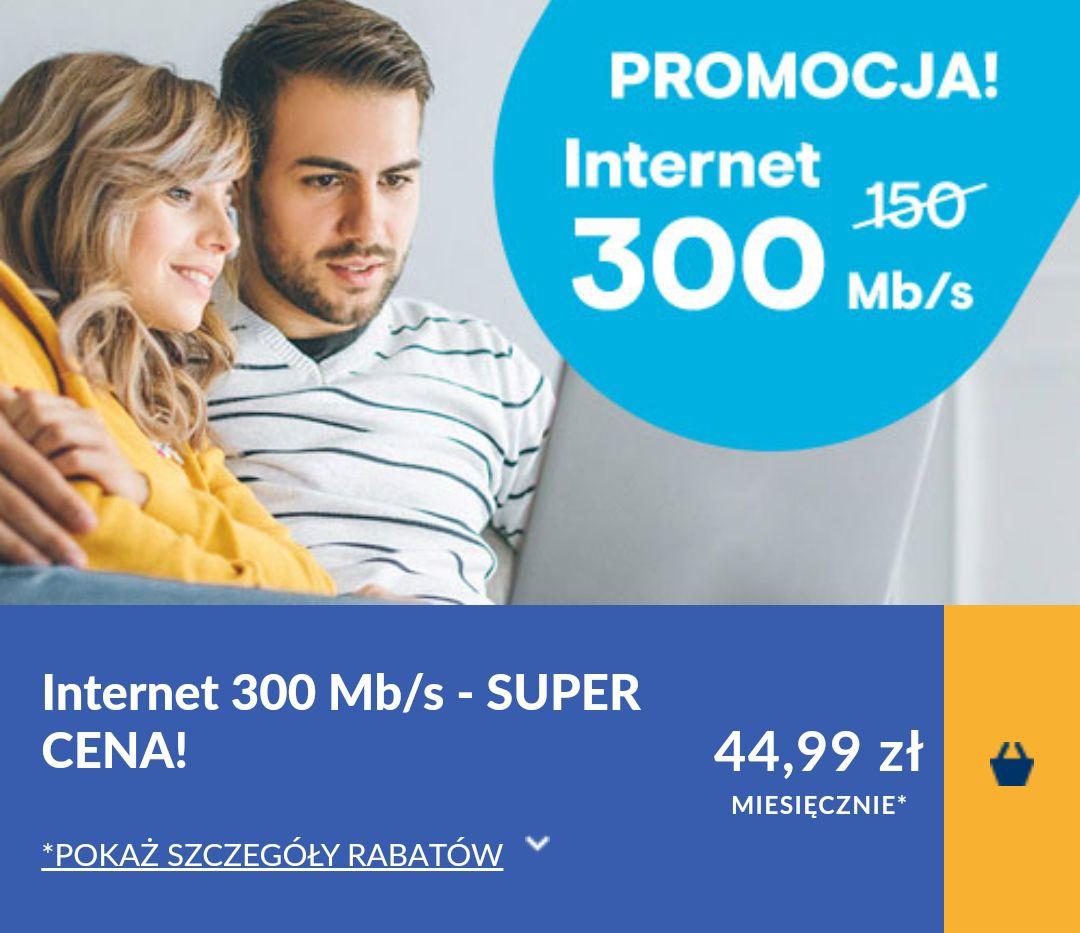 Vectra - internet kablowy 300 mb/s za 44.99 zł bez zobowiązań