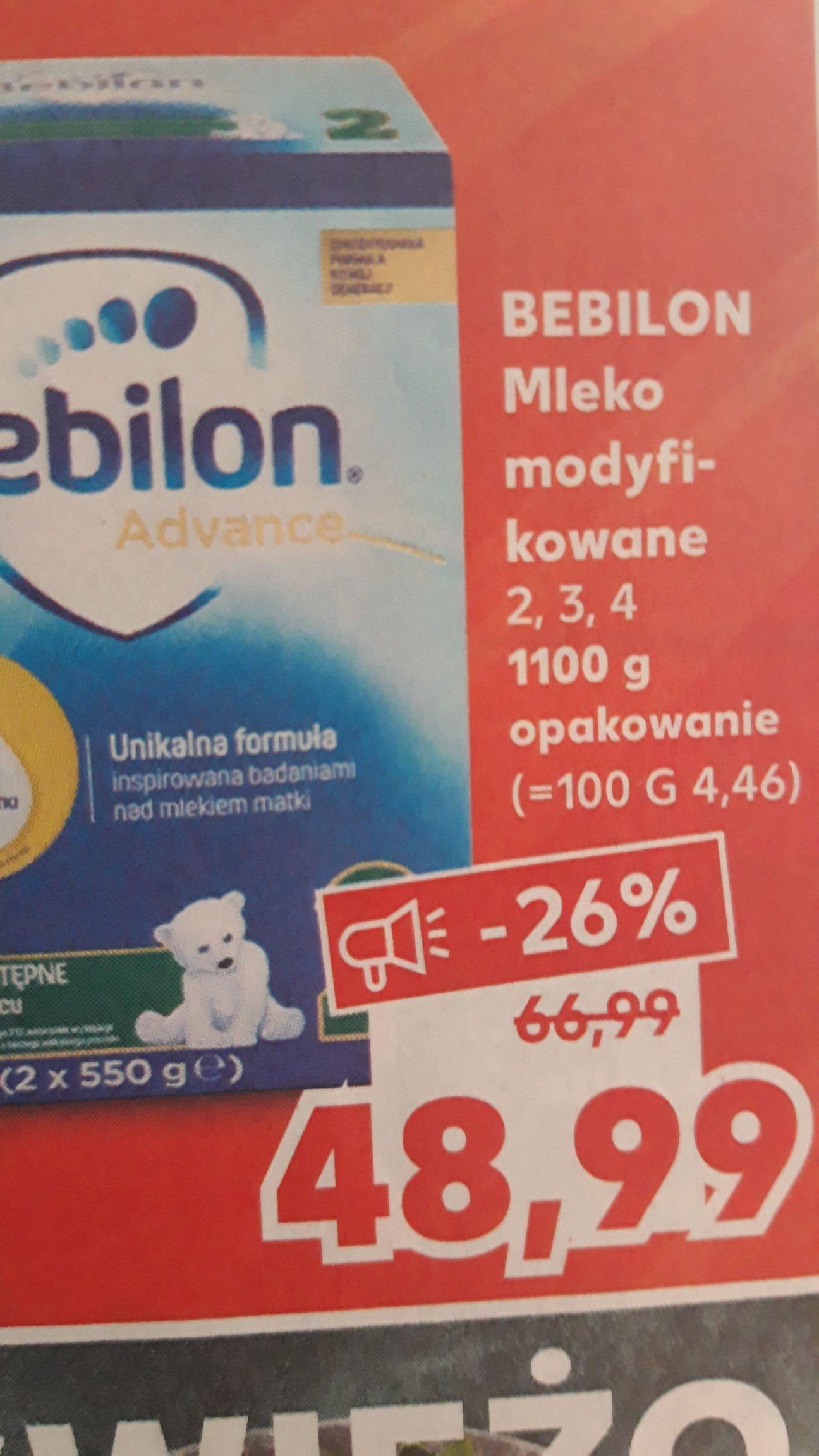 Kaufland Bebilon Mleko Modyfikowane 2,3,4 1100g
