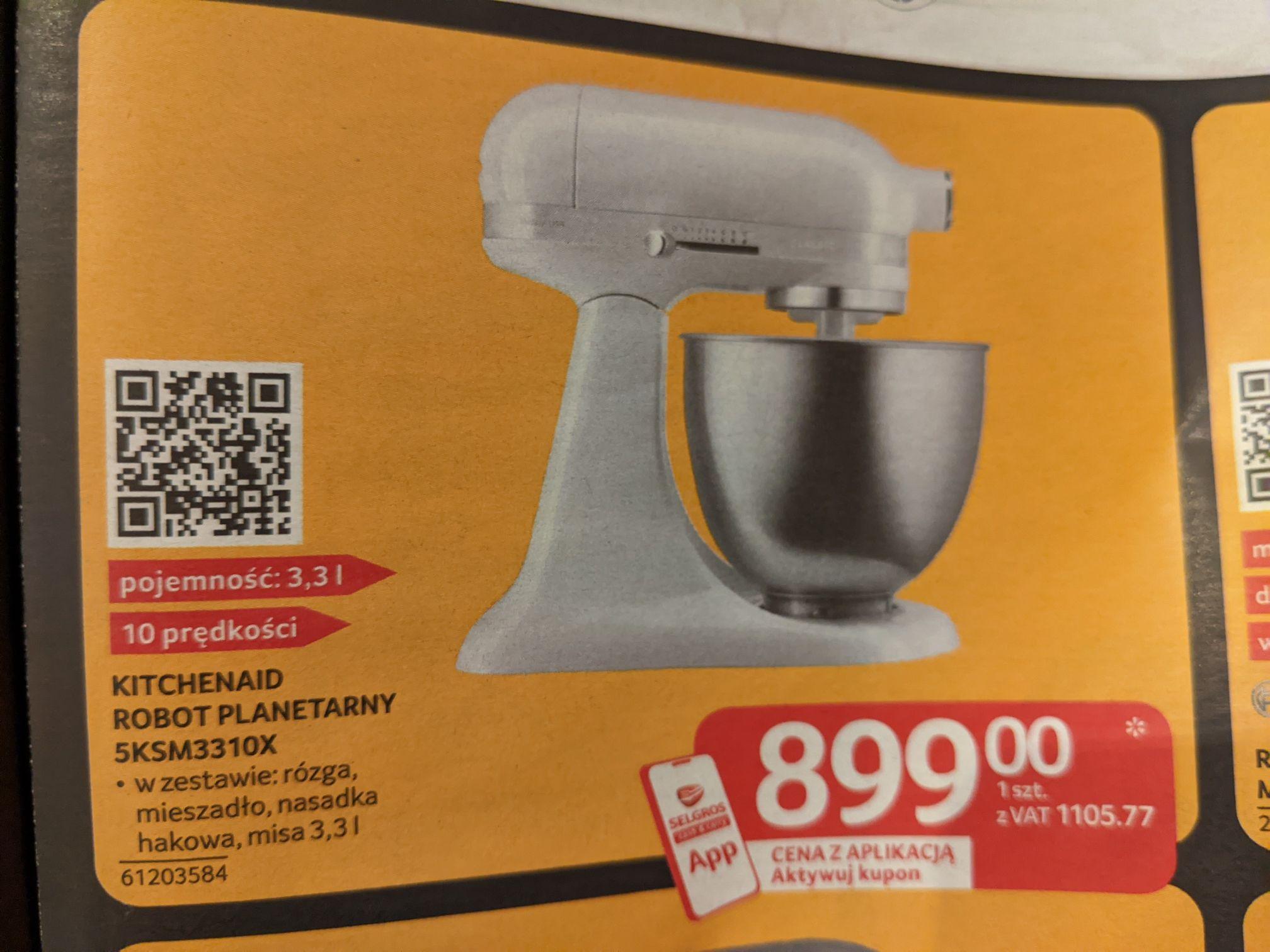 KitchenAid robot planetarny Classic. Cena z aplikacją