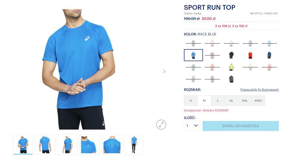 Asics Sport run - koszulka
