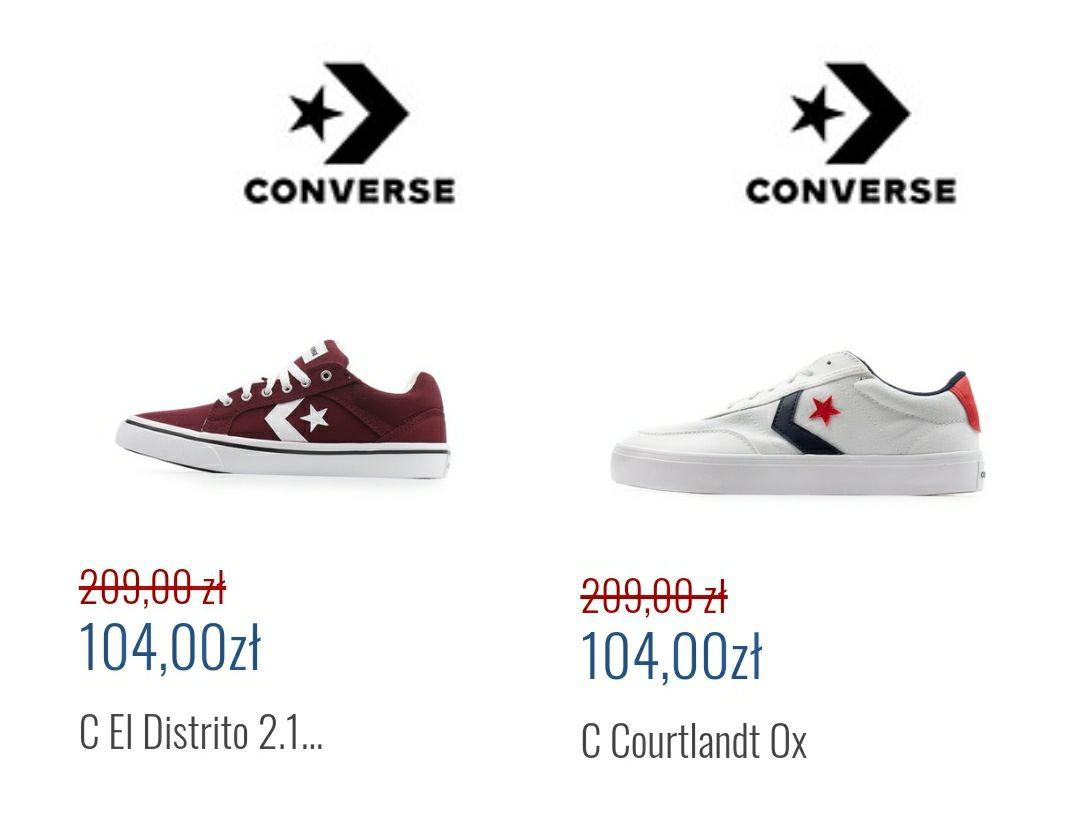 Męskie buty Converse - 2 pary do wyboru