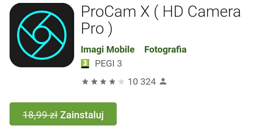 ProCam X wersja premium za darmo