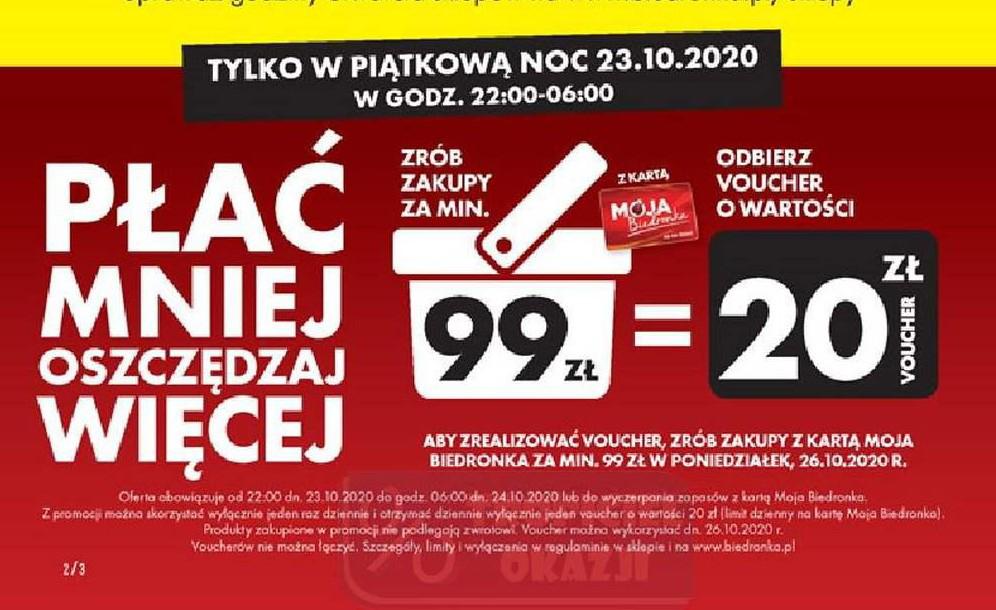 Voucher na 20 zł za mwz 99zł