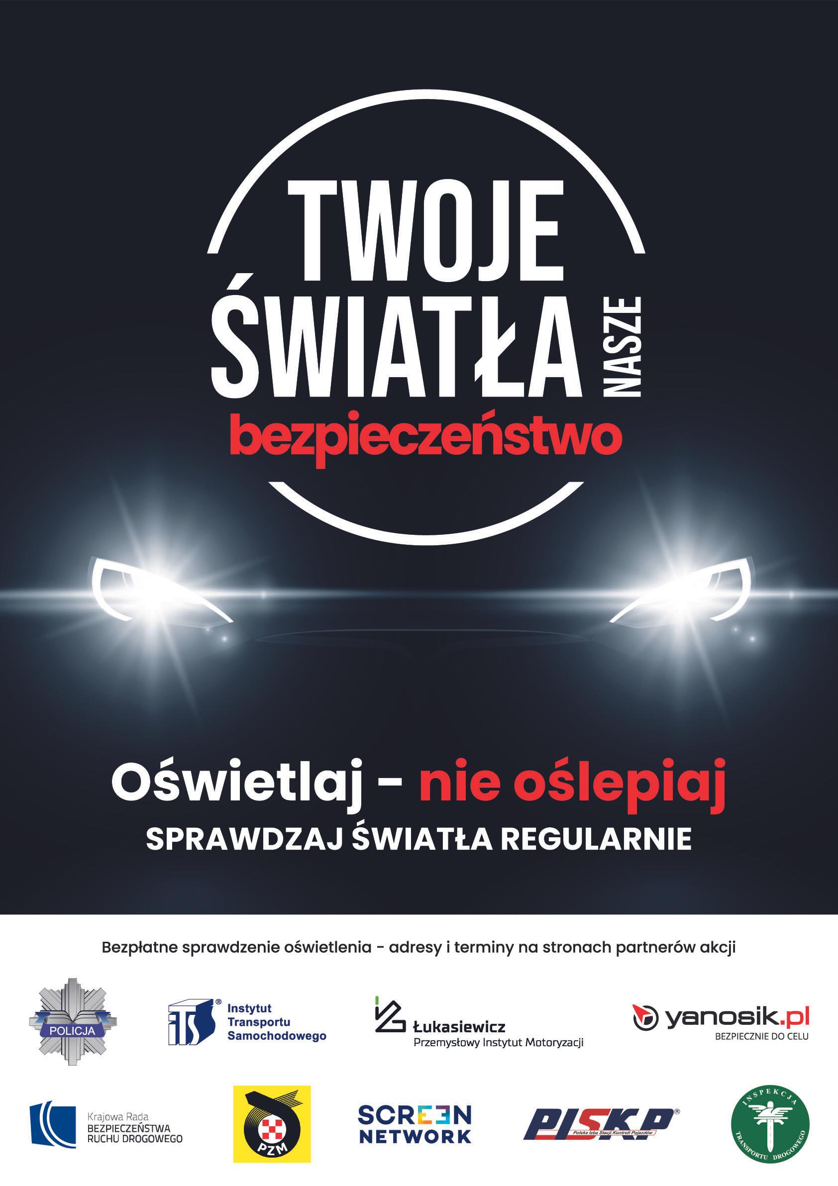 """Bezpłatne sprawdzenie oświetlenia w pojazdach """"Twoje Światła - Nasze Bezpieczeństwo"""" – wspólna akcja Stacji Kontroli Pojazdów z Policją"""
