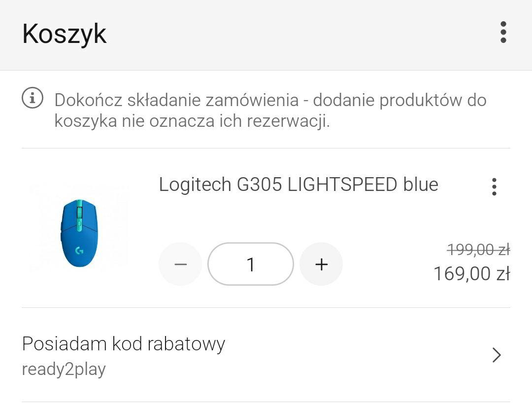 Logitech G305 niebieska