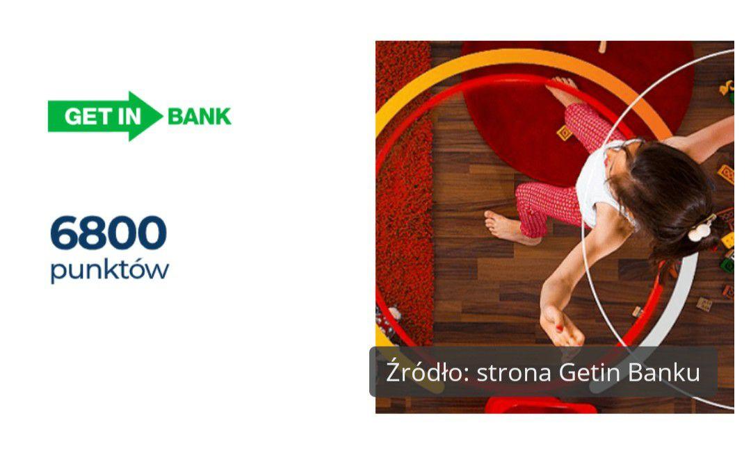 6800 punktów powitalnych w programie Mastercard Bezcenne Chwile z kartą kredytową Getin Banku