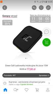 Ładowarka Green Cell AirJuice Wireless Charger