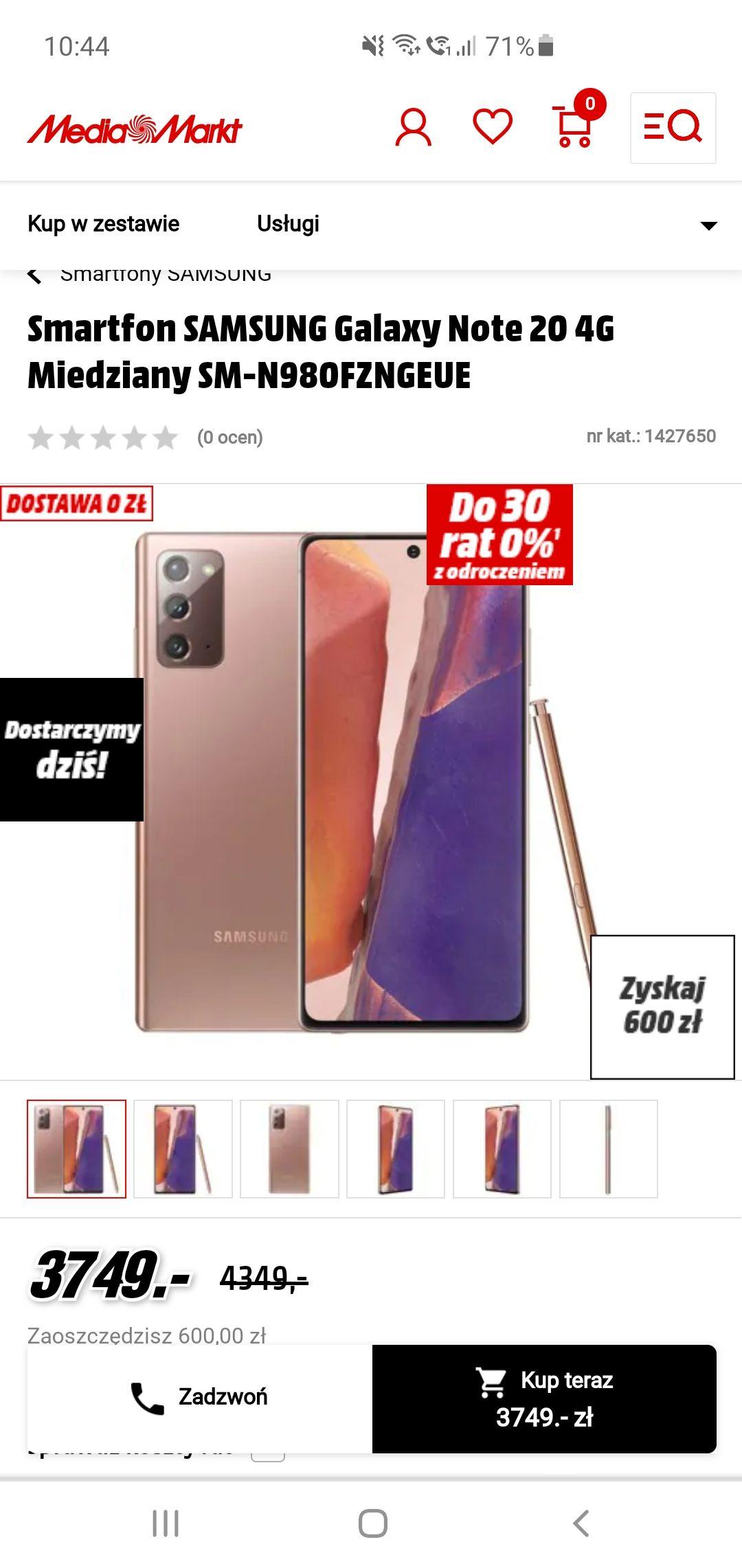 Note 20 i Note 20 5G 600zł taniej + zwrot z bankomatu 600zł