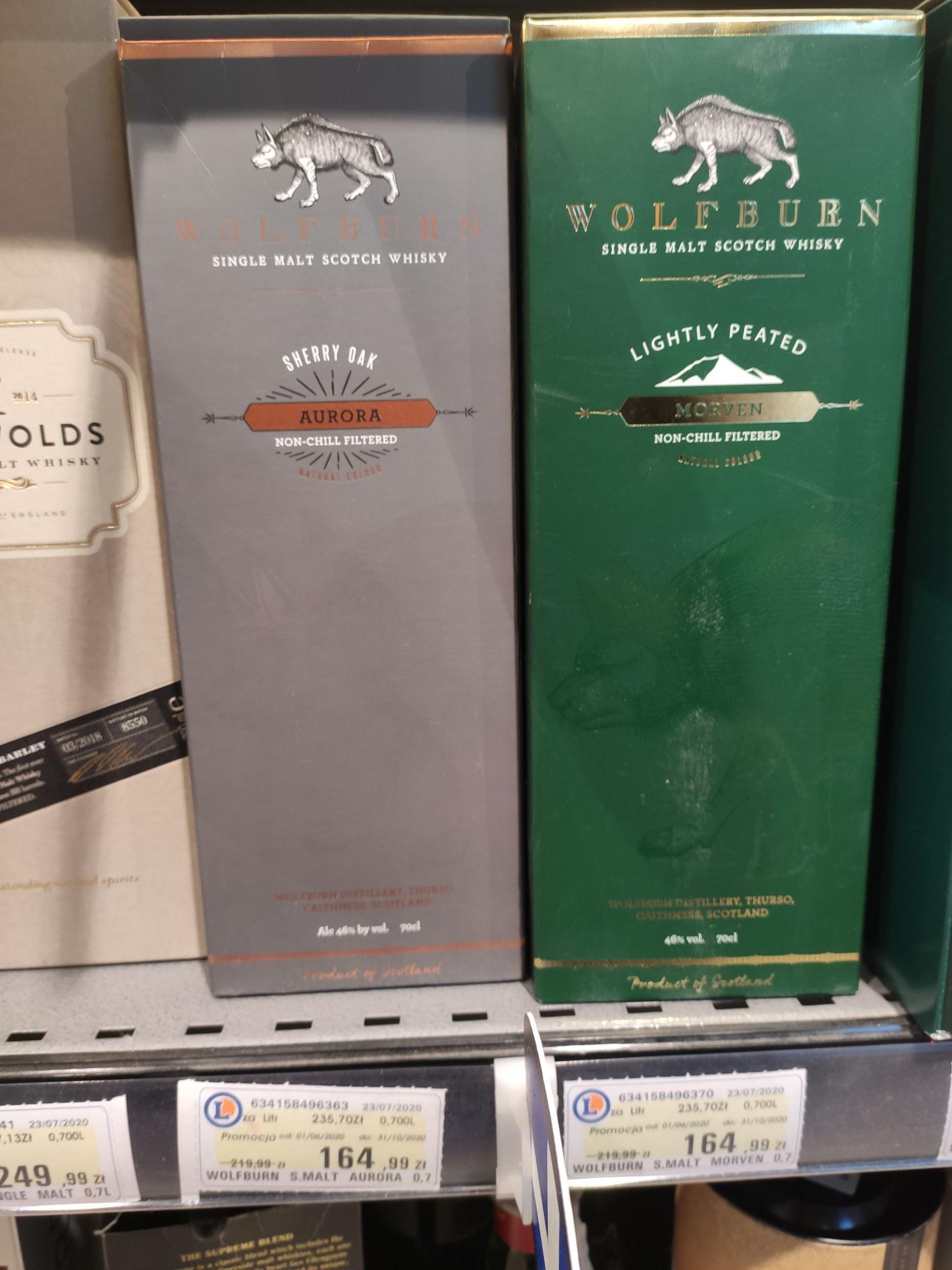 Szkocka Whisky Single Malt Wolfburn 0.7L